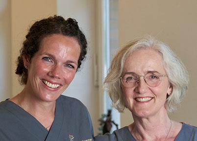 Dr. Julia Sommer und Rita Wacker